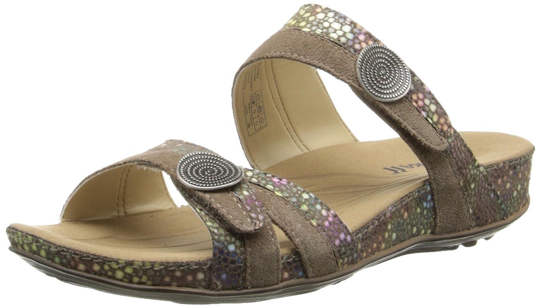 Romika Women's Fidschi 22 Dress Sandal B00NIP4SFM 39 BR/8-9 M US|Taupe/Kombi Shiny Vel