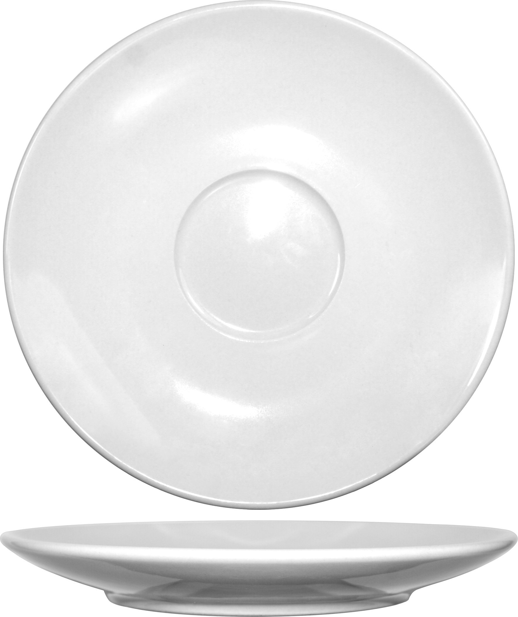 ITI DO-67 36-Piece Porcelain Dover Saucer for Cappuccino Cup, 12-Ounce, White
