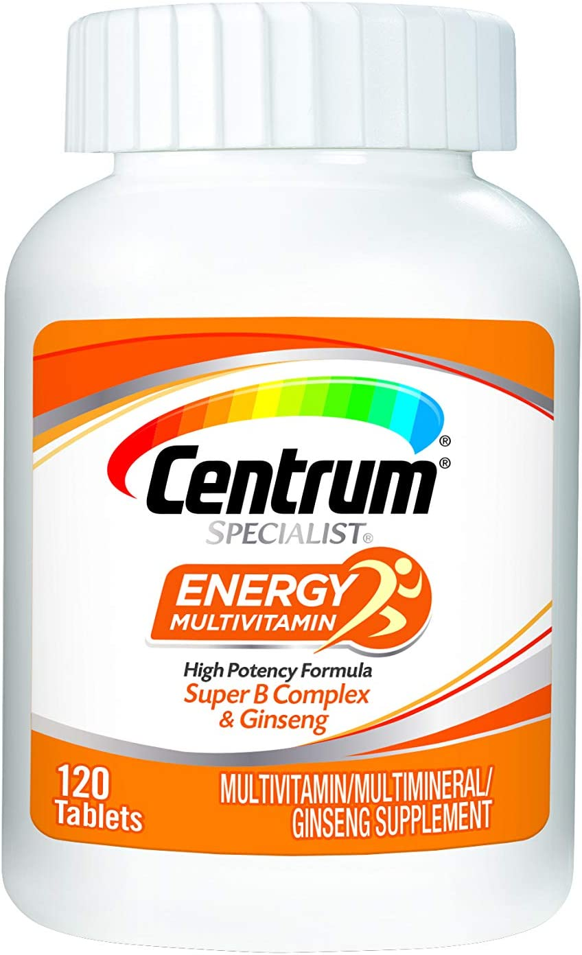 Centrum Specialist Energy Complete Multivitamin Supplement 120Count Tablets