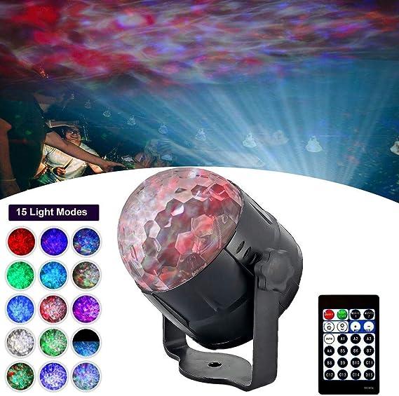 Chainscroll Neue 15-Farben KTV LED Stage Light Weihnachten Projektorlampe B/ühnenlampen
