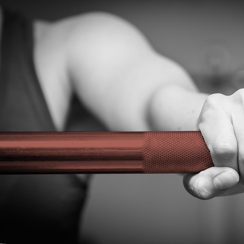 diam/ètre Manchons de 50mm 201cm, 15kg, diam/ètre poign/ée 25mm, supporte 450kg - cuivre//Chrome Barre dhalt/ère Professionnelle aux Normes Olympiques Capital Sports Pantherbar
