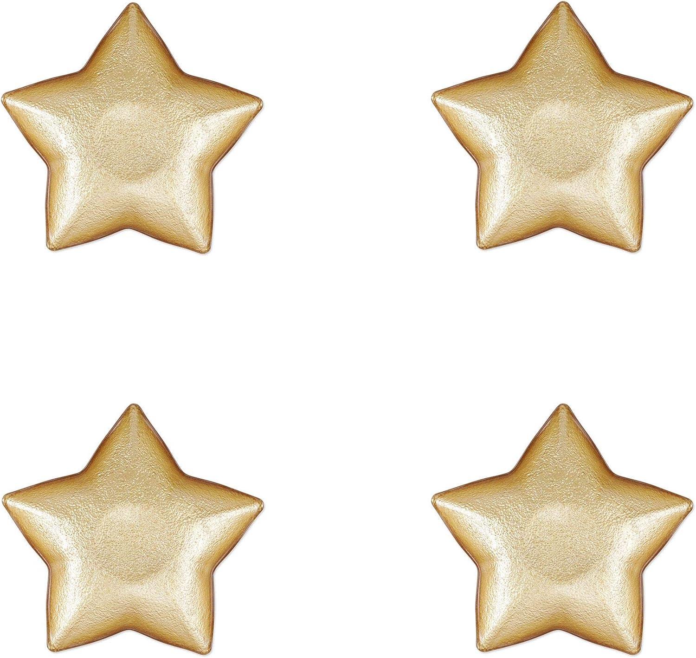 Vietri Festa Glass Gold Max 60% OFF Star Dish Tableware Overseas parallel import regular item of Set Holiday 4 -