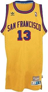4b924f292 adidas Wilt Chamberlain Golden State Warriors Gold Throwback Swingman Jersey