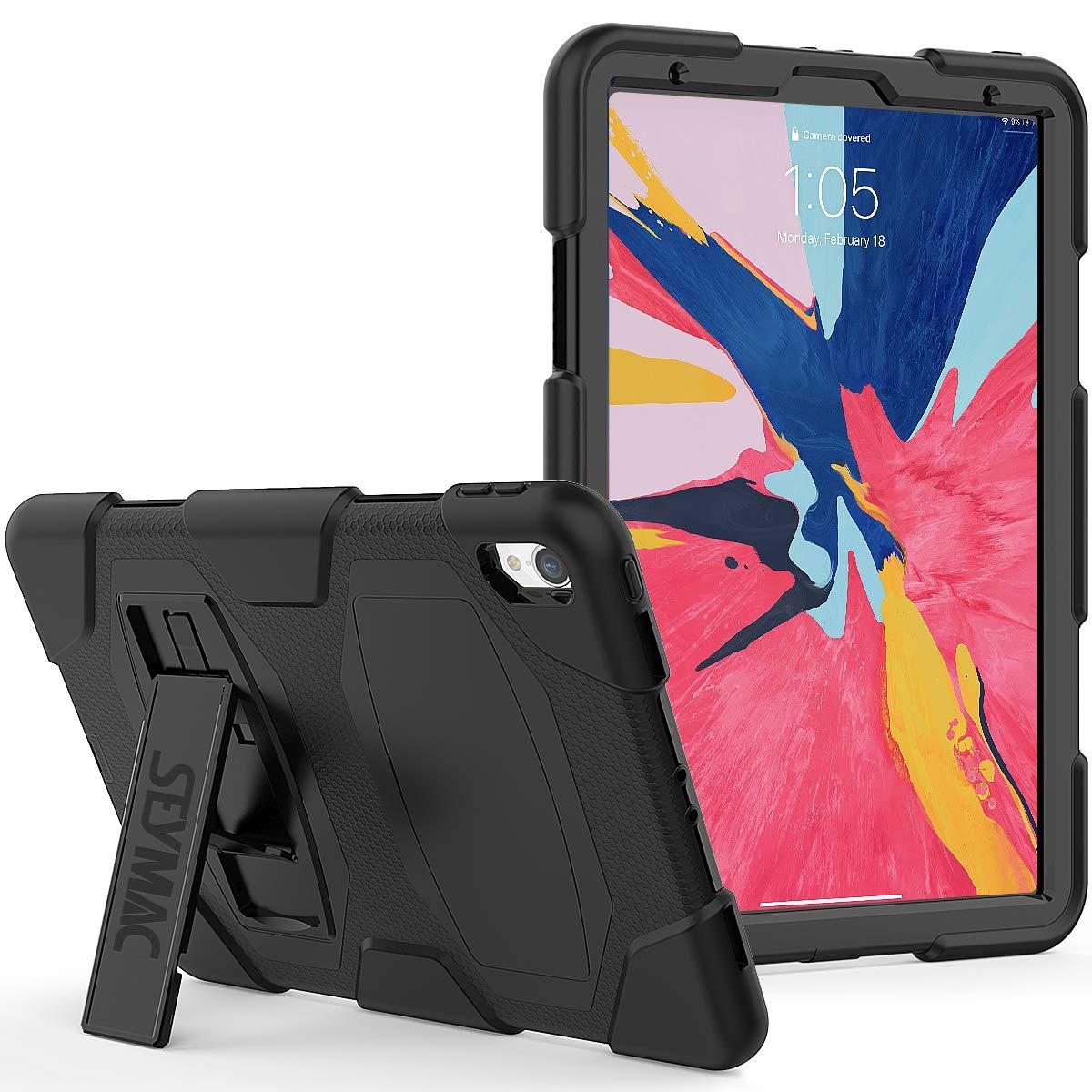 新着 SEYMACケース iPad Pro 11インチ 2018年モデル対応 2018年モデル対応 Pro フルボディ 頑丈 耐衝撃 落下保護 iPad バンパーケース キックスタンド付き iPad Pro 11インチ [A1980 A1934 A2013] ブラック Y1IPpro11fu ブラック B07L93TWZ8, 学研アソシエ代理店 サインポスト:ac2bac35 --- a0267596.xsph.ru