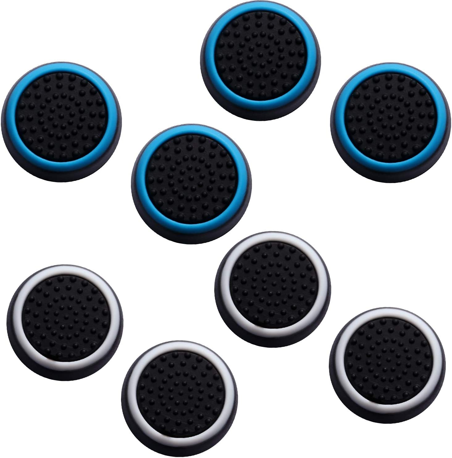 Pack of 8 Silicone Cap Joystick Protective Covers Compatible with PS4 PS3 PS2 DualShock WiiU Xbox One 360 Wireless Controller Fpxnb 4 Pairs 8 Pcs Analog Stick Thumb Grip Set