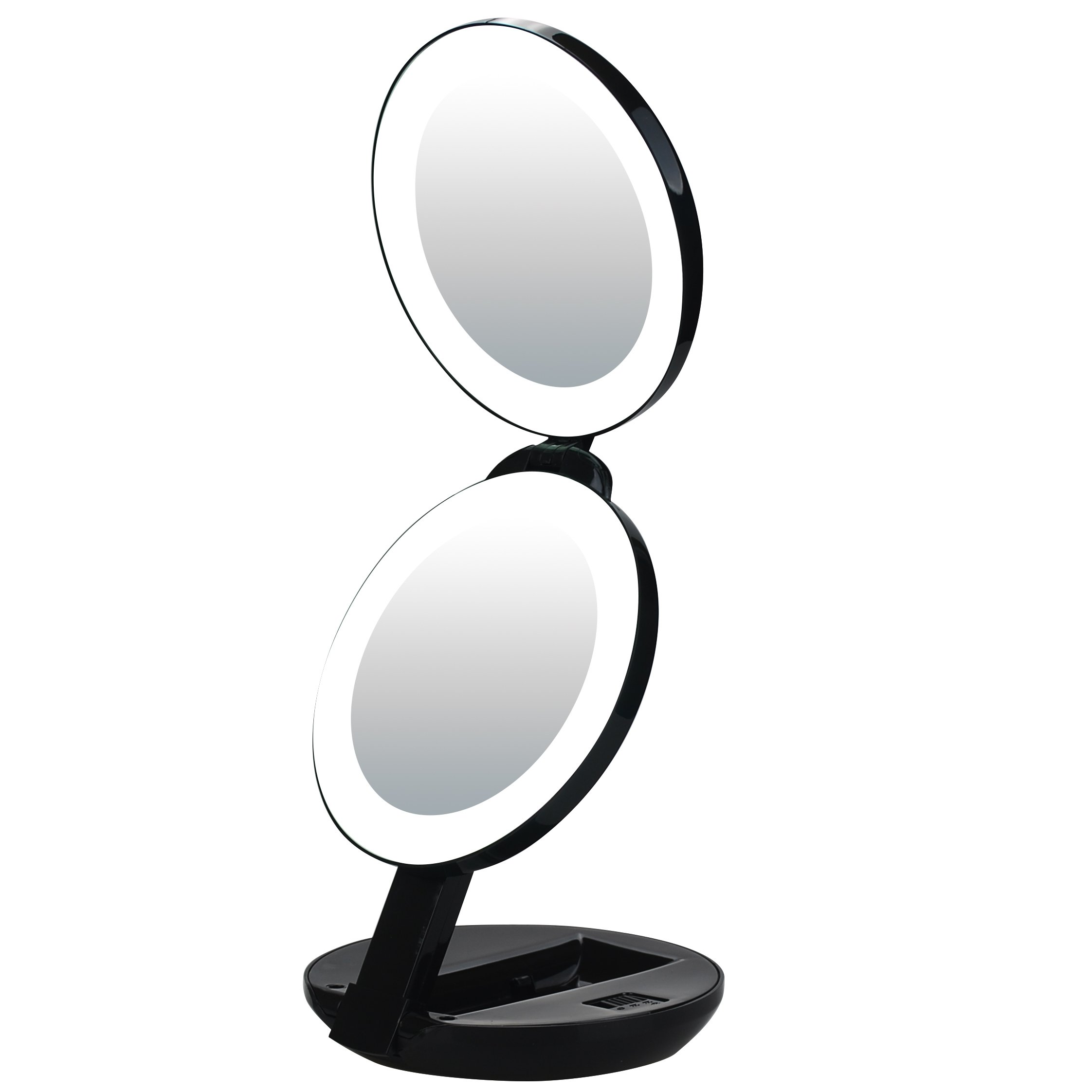 Amazon Com Led Lighted Travel Makeup Magnifying Mirror