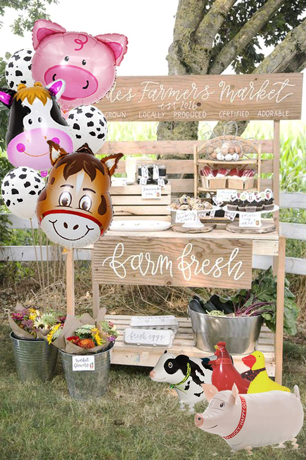 Amazon.com: Decoración de fiesta de animales de granja ...