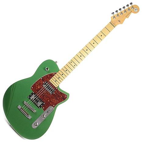 Reverend flatroc guitarra eléctrica (metálico verde)