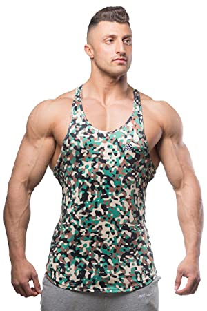 5cfe33b80b817 Jed North Bodybuilding Tank Top Gym Stringer Y-Back Muscle Racerback ...