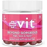 Hair Skin and Nails Vitamins - Vegan Biotin Supplement w/ Argan Oil + Vitamin E for Healthy Hair   vit Beyond GorgeousBiotin