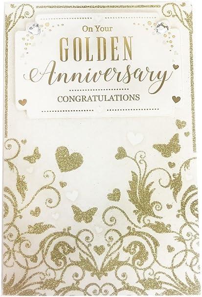 Tarjeta de felicitación de aniversario de boda pareja matrimonio ...