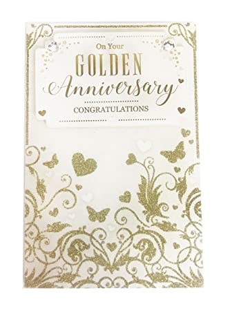 happy golden wedding anniversary card couple marriage