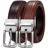 BULLIANT Hombre Cinturón, Cuero Cinturón Reversible 35MM,una cintura invertire a due colori,Tamaño Ajuste