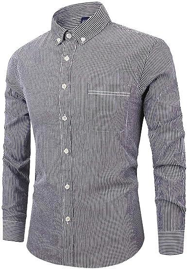 Ropa para Hombre de Manga Larga con Botones de Cuello Descubierto, Camisas Casuales, Camisas de otoño e Invierno, chándales, Camisas y Blusa para Hombre Talla M-5XL: Amazon.es: Ropa y accesorios