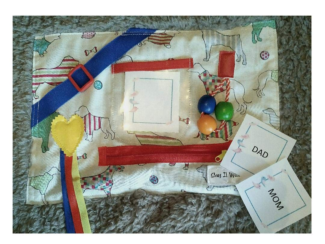 Dog themed busy blanket Sensory activities for Dementia