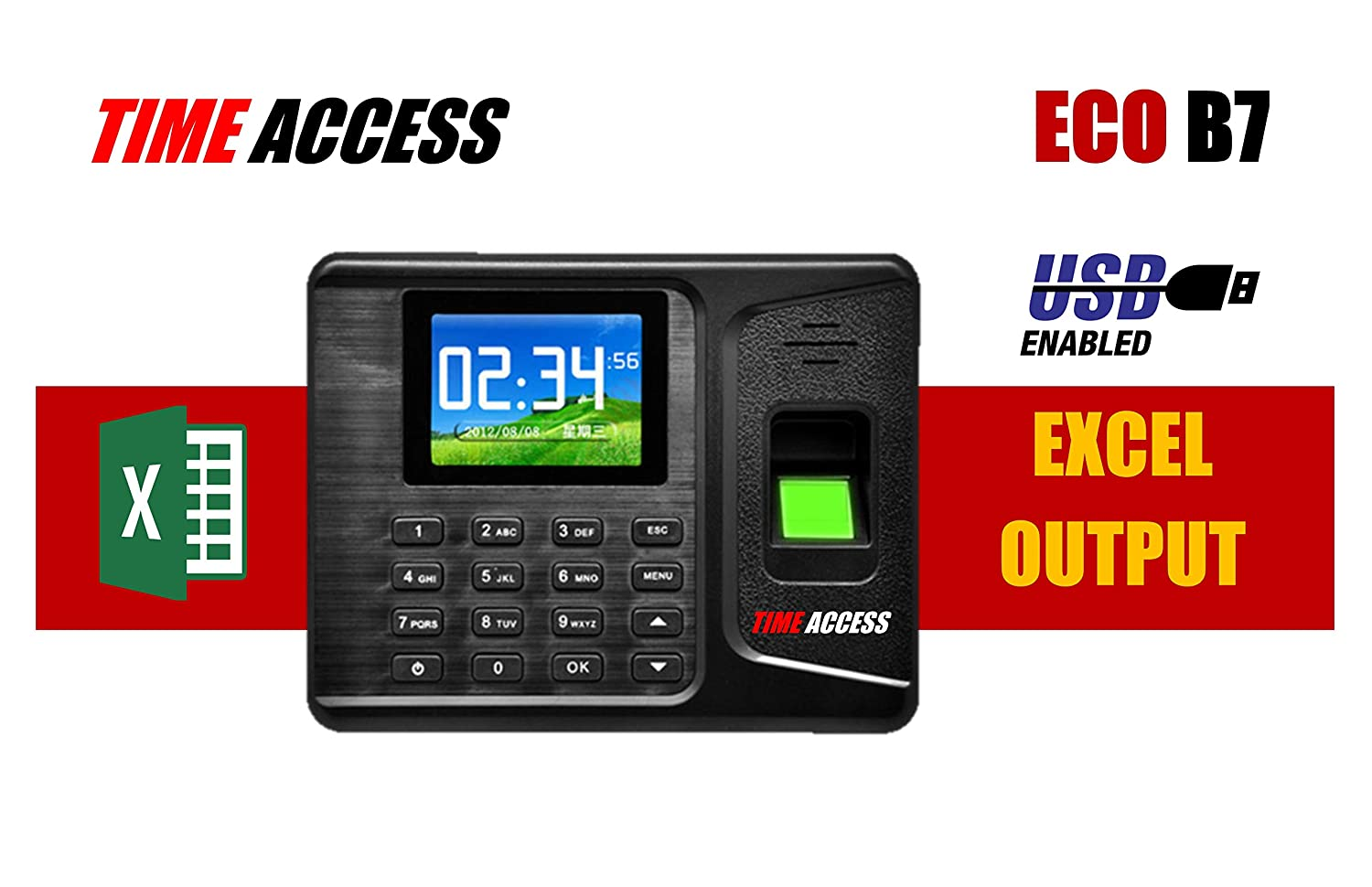 SBJ ECO B7 Simple to use Time Access biometric Device with