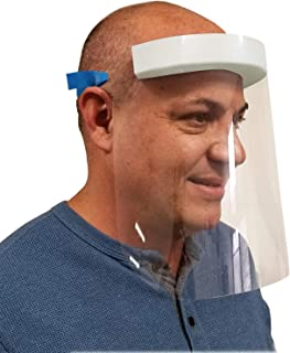 product image for Face Shield Anti Splash & Fog Resistant PETE To Protect Face (Made in USA) (6) Pack: Includes 1 Forehead Thermometer