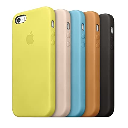 new product 58cae 141d6 MOCA Protective Silicone Back Cover Case for Apple iPhone SE/iPhone  5s/iPhone 5 (Yellow)