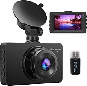 Dash Cam 【2020 Newest】 1080P FHD DVR Car Driving Recorder 3 Inch LCD Screen 170° Wide Angle, G-Sensor, Parking Monitor, Loop Recording, WDR with IR Night Vision, Motion Detection