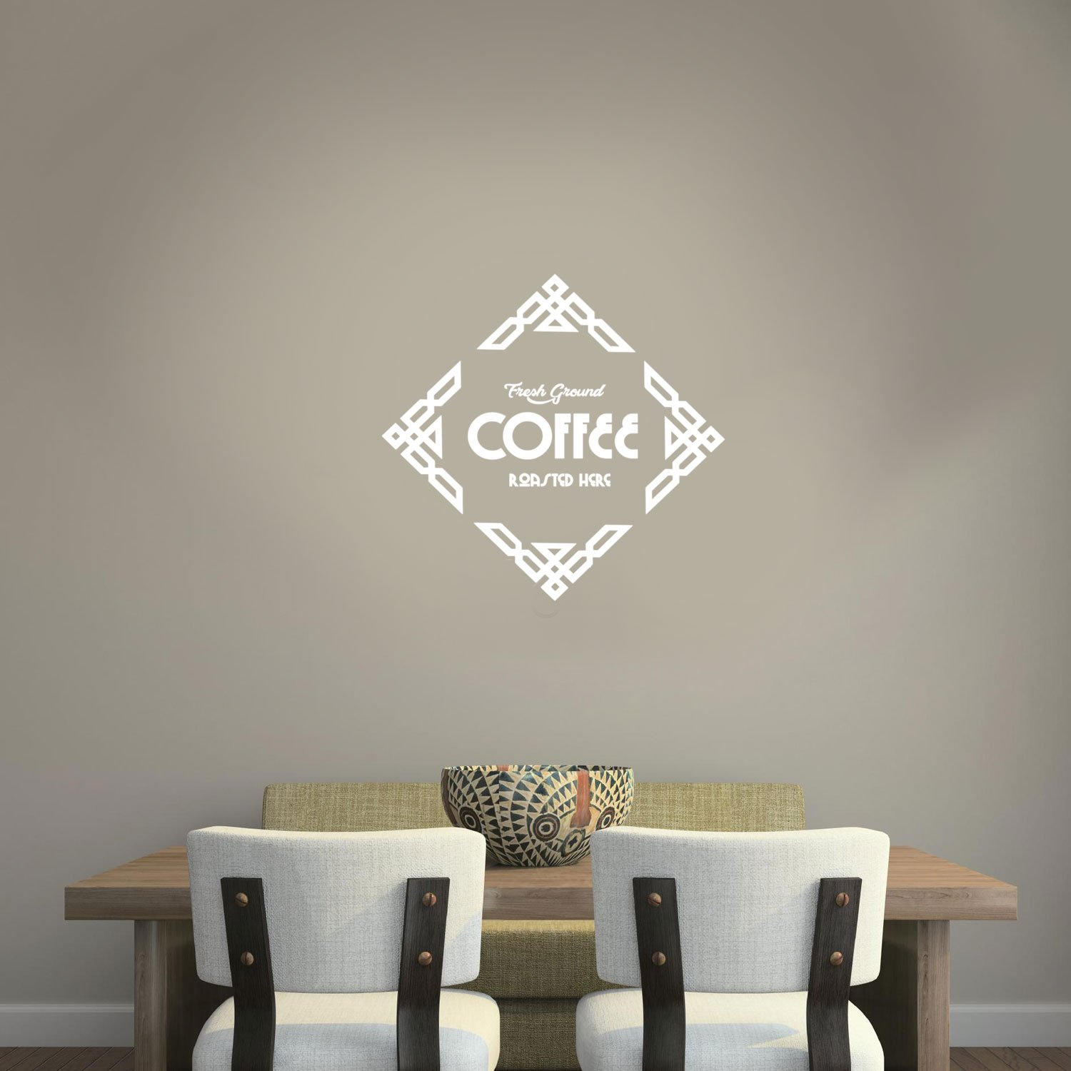 Amazon.com: Vinilo de pulso para decoración de pared de café ...