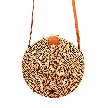 besondere Auswahl an farblich passend zur Freigabe auswählen Malimo Korbtasche Rund, Rattan Tasche, Ata Basket Bag