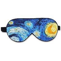Alaska Bear Natural Silk Sleep Mask, Blindfold, Super Smooth Eye Mask (Starry Night)