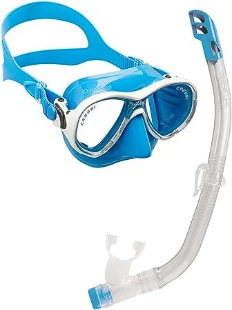 Cressi Set Marea VIP Jr Pack de Snorkel, niños, Transparente/Azul