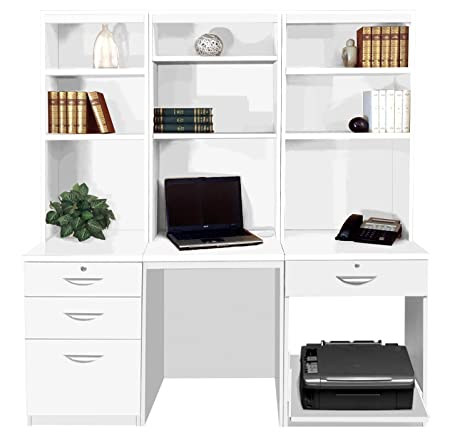 narrow c bookcases highland set and wall desk bookcase products pbteen