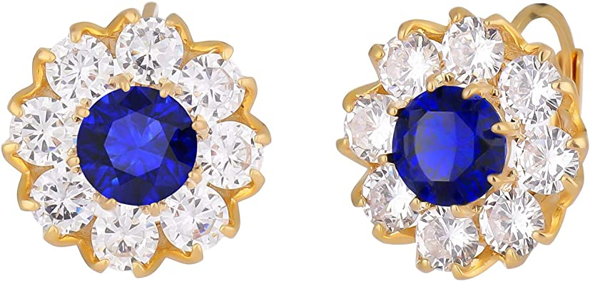 Birthstone Clip on Earrings for Girls Crystal June Oval Drop Earring