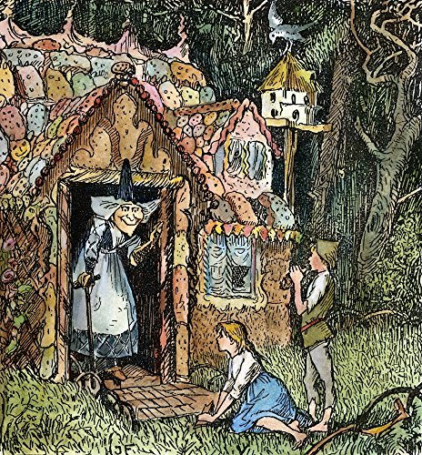 Grimm Hansel And Gretel Nhansel And Gretel Arrive At The WitchS Cottage Drawing C1891 By Henry J Ford For The Fairy Tale By Brothers Grimm Poster Print by (18 x 24)