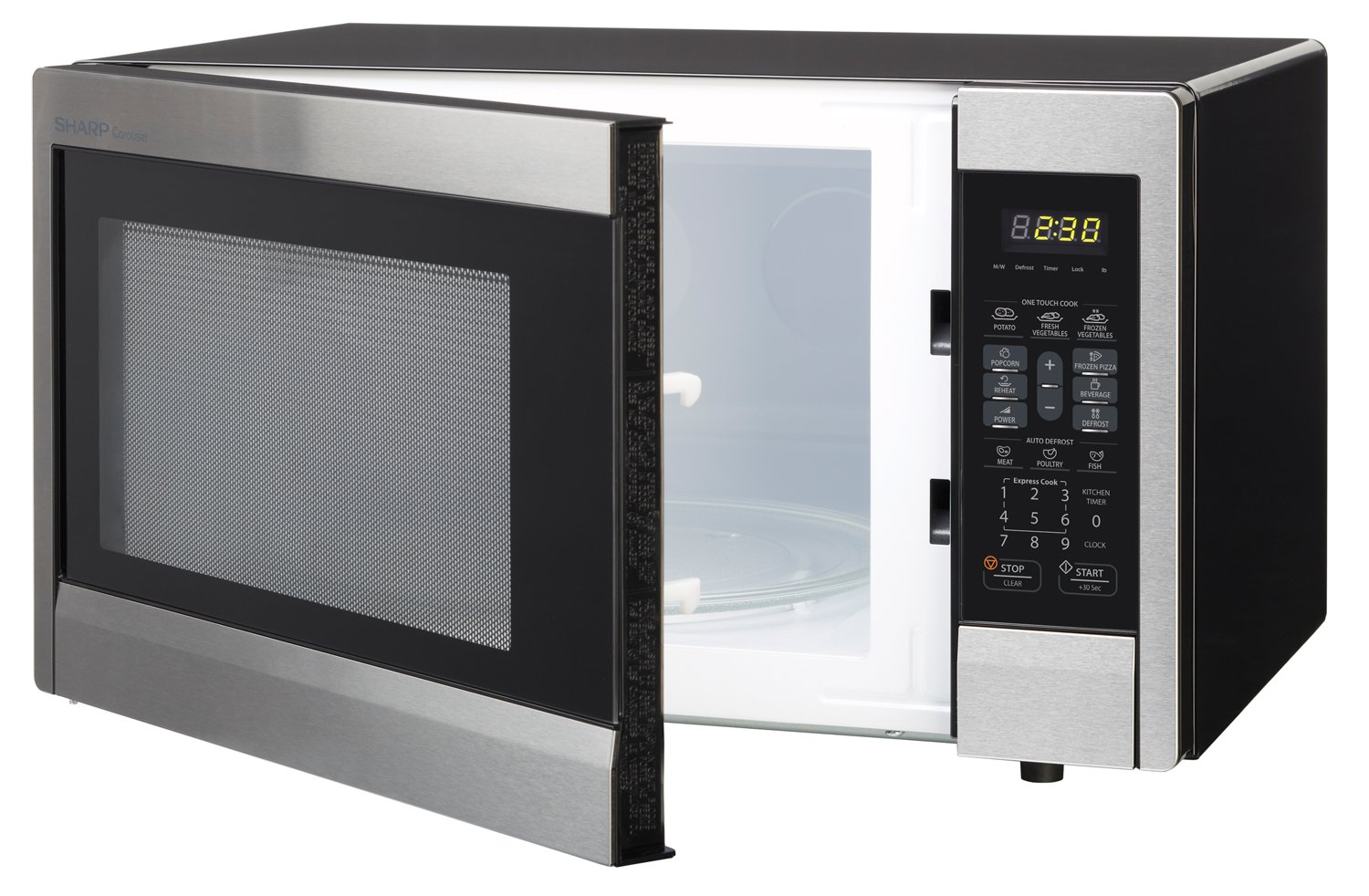 Sharp 1.000 W Countertop microondas horno, 1.1 pies cúbicos: Amazon.es: Hogar