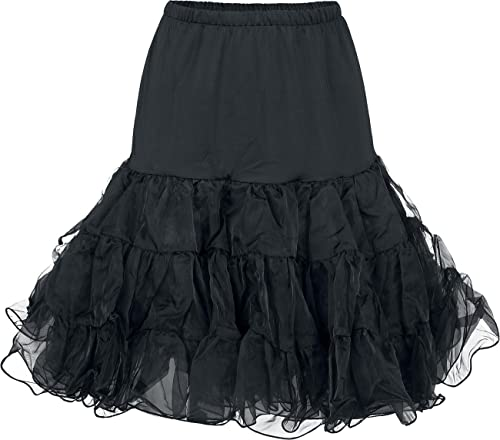 H&R London Pinup Petticoat Falda Negro