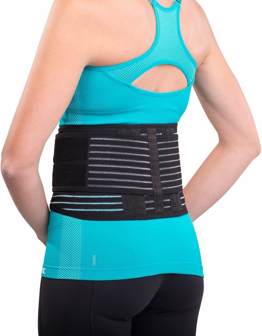 """DonJoy Advantage DA161BW01-BLK-S, M Stabilizing Back Support for Low Back Pains, Strains, Comfortable Foam Padding with Stretch Fabric, Adjustable to fit Small to Medium, 29"""" to 37"""""""
