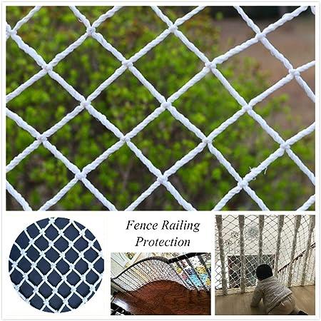 Redes De Seguridad para Balcones,Anticaída Red De Escalera Malla De Protección Infantil Red De Carga Cuerda De Nylon Blanca Barandilla Protección Valla Parque Infantil Jardín Decoración Interior: Amazon.es: Hogar