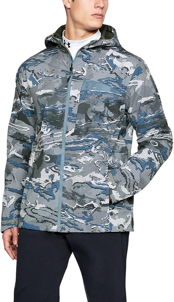 Under Armour Outerwear Mens Surge 2.5l Shell Hoodie Large Bass Blue//Bass Blue