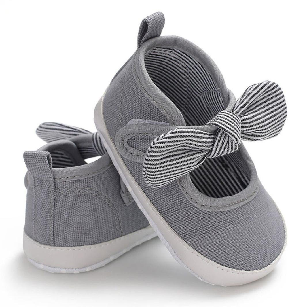WOCACHI Baby Girls Shoes Toddler Infant Kids Girl Bowknot Soft Sole Crib Newborn Shoes