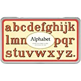 Cavallini Rubber Stamps Alphabet (Lowercase), Assorted with Ink Pad