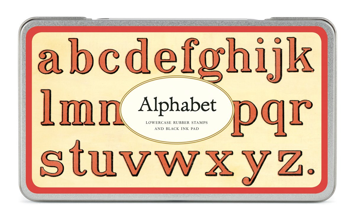 amazon com cavallini rubber stamps alphabet lowercase assorted