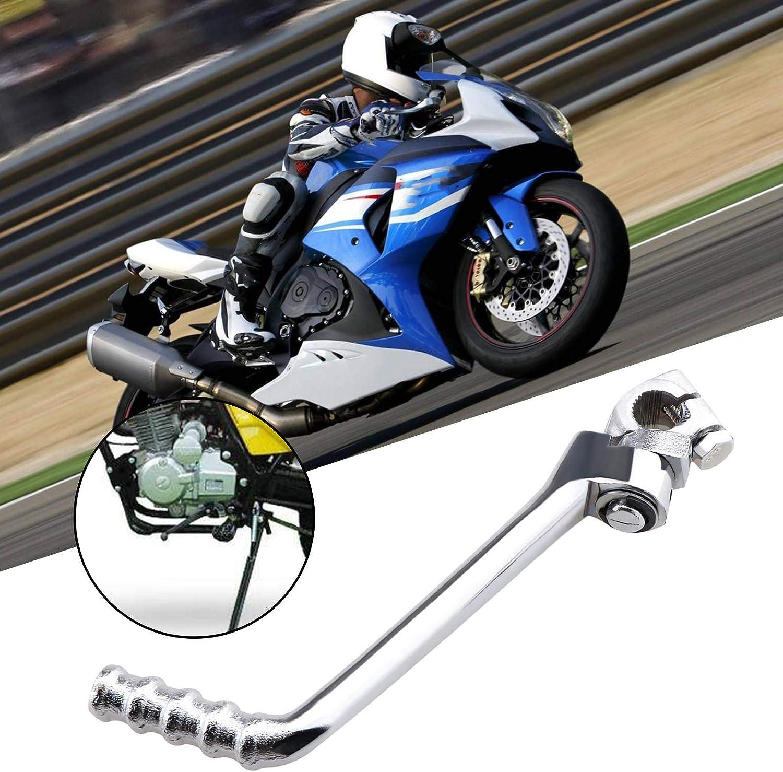 16mm Motorrad Starter Hebel Kick Pedal Startwellen Edelstahl Silber Ersatz F/ür Chinesische Dirt Bike Pit Fahrrad 140cc 150cc 160cc Edelstahl Motorrad Kickstarter Armhebel Pedal