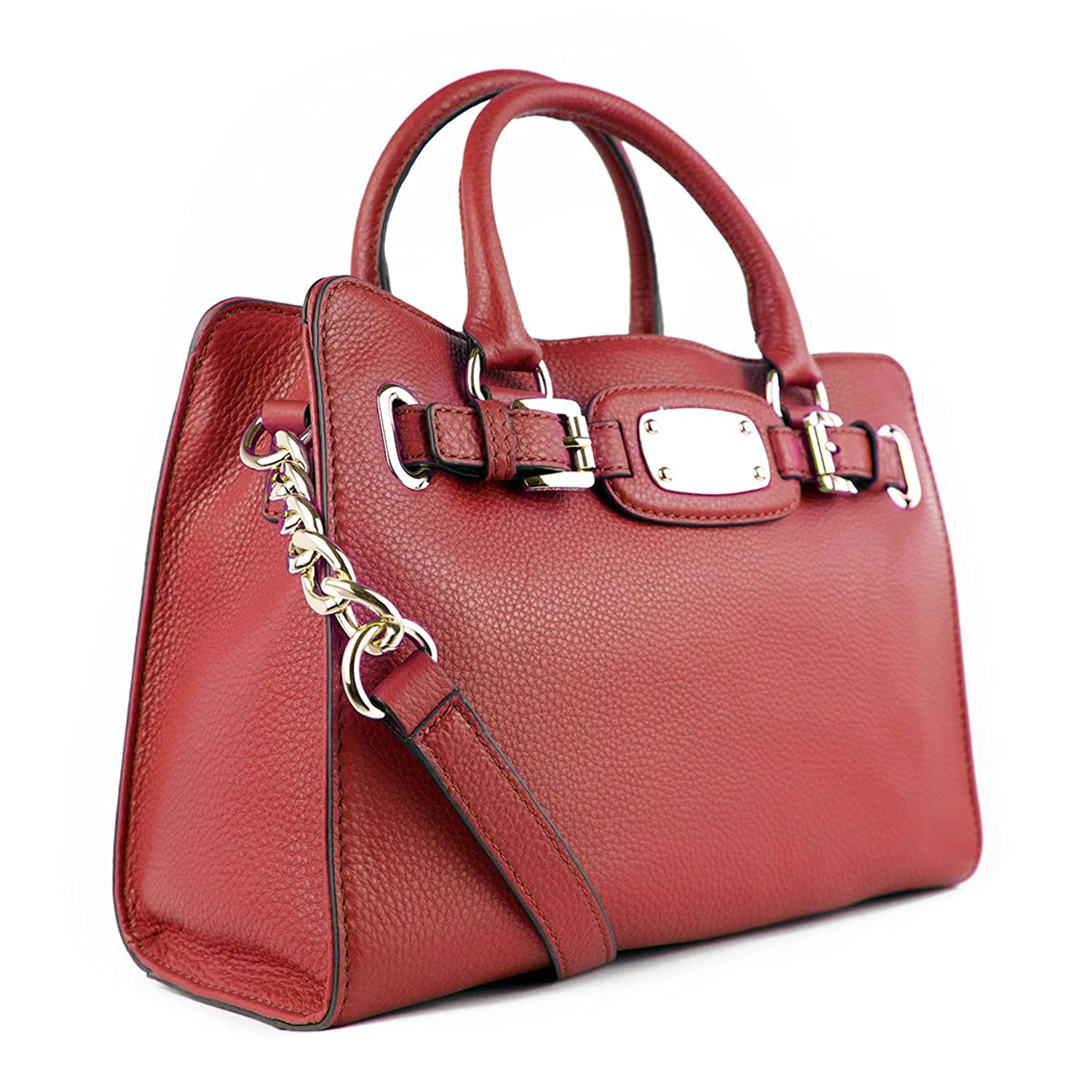 Amazon.com: Michael Kors Genuine Hamilton Red Leather Med Tote Bag: Shoes