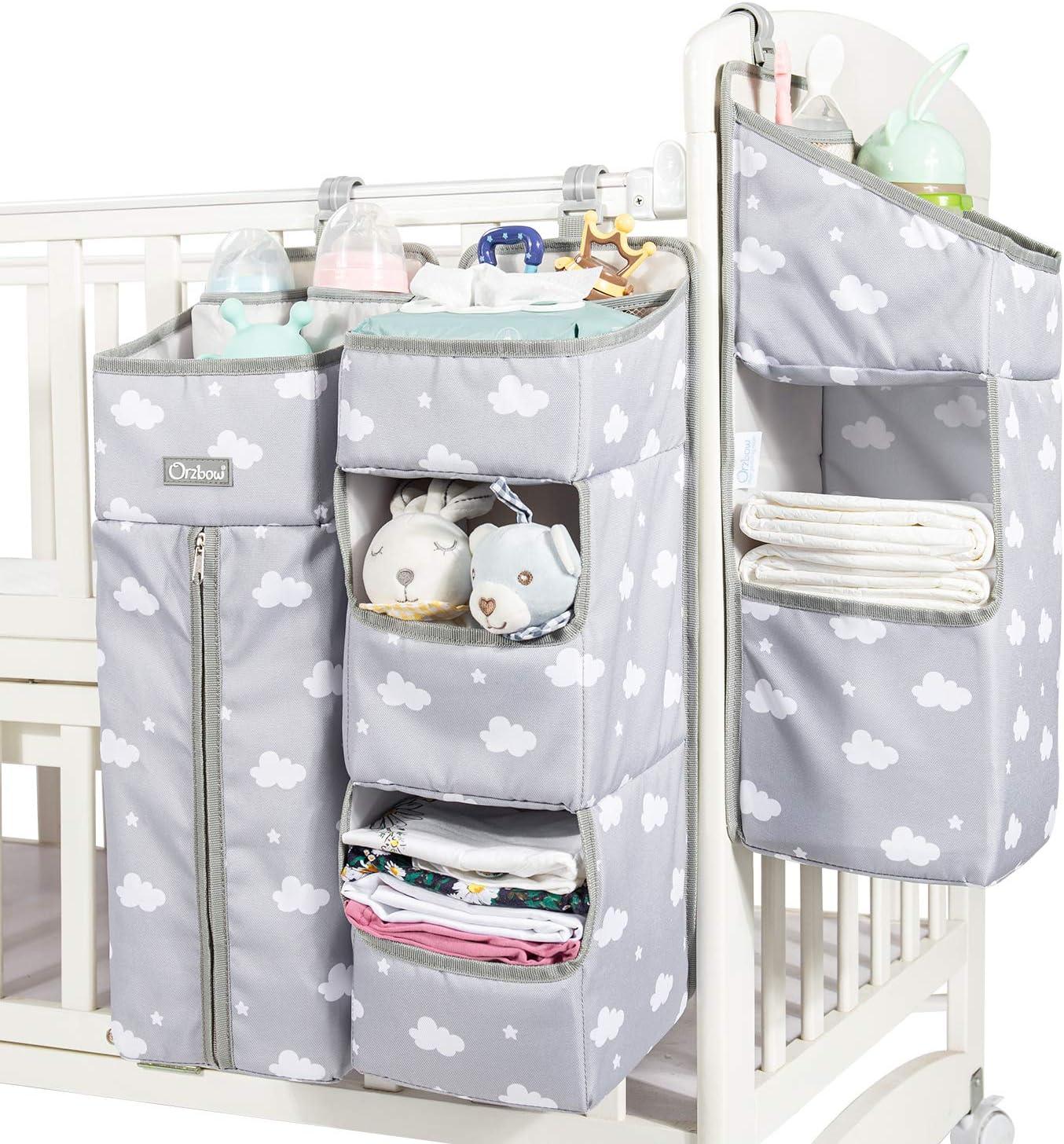 Faltbare Filz Aufbewahrungstasche tragbare austauschbare F/ächer f/ür Mama Neugeborenen Kinder Windeln Oyria Multifunktions Baby Windel Caddy Organizer