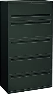 product image for HON 785LS 700 Series 36-Inch 5-Drawer Lateral File withroll-Out and Posting Shelf, Charcoal