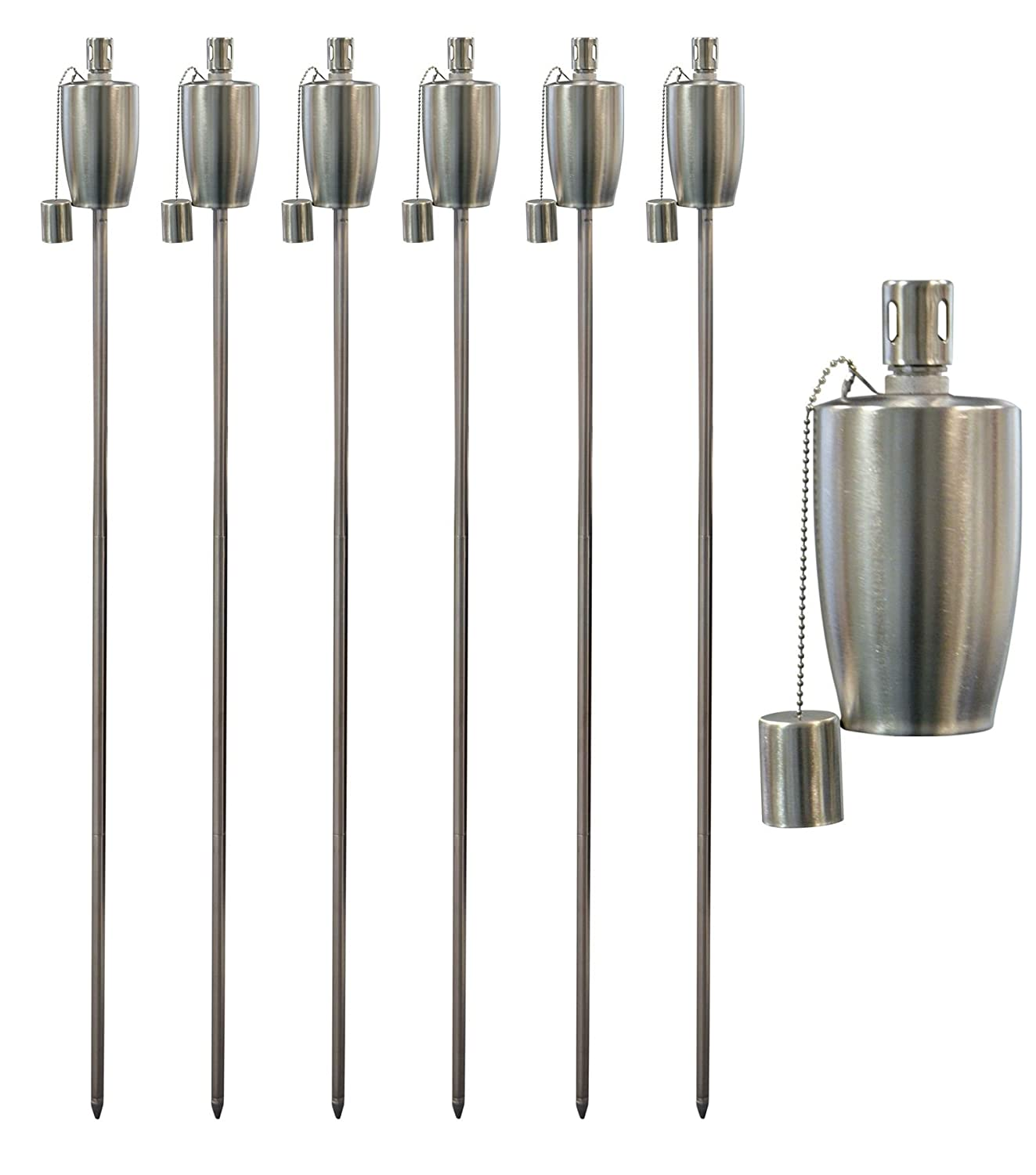 Garden Fire Torch - Oil/Paraffin Lantern - 1460mm Barrel Design - Pack of 6 Harbour Housewares