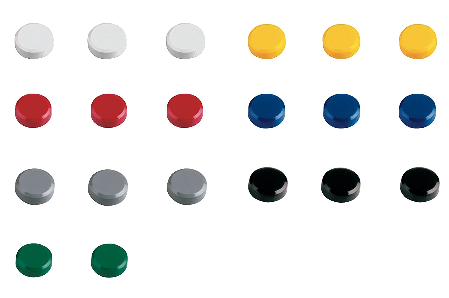 Black Pack of 20 MAUL 20 mm 0.3 kg Maulpro Round Magnet for Whiteboards