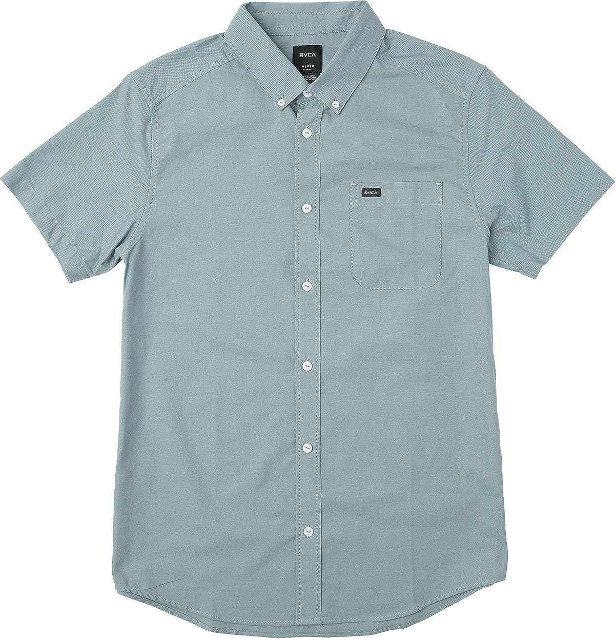 RVCA Mens Thatll Do Oxford Short Sleeve Woven Shirt