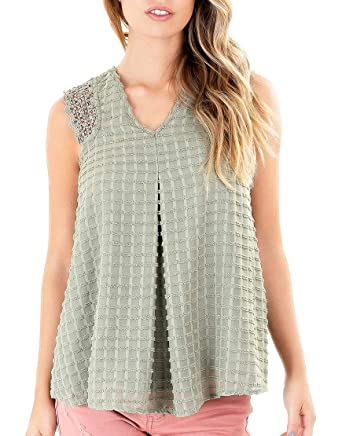 Knox Rose Olive Embroidered Stripes Blouse At Amazon Women S