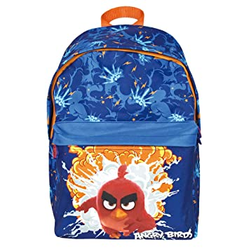 d57970c5ac4e Angry Birds Backpack for Kids - Children School Bag with Front Pocket with  Red - Rucksack