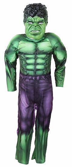 Marvel Disfraz de Hulk Avengers Multicolor multicolor 104 cm (3-4 ...