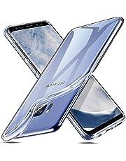 ESR Coque pour Samsung Galaxy S8, Coque Transparente Silicone Gel TPU Souple, Housse Etui de Protection Bumper Premium [Anti Choc] [Ultra Fine] [Ultra Léger] pour Samsung Galaxy S8 2017 (Transparent)