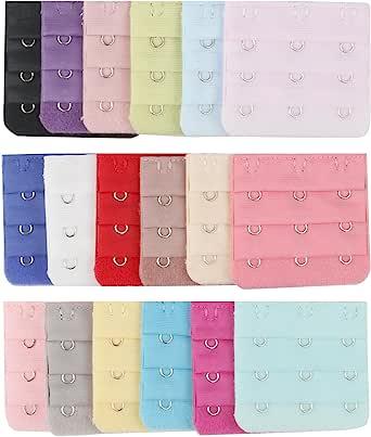 TRIXES Women Bra Extenders 3 Hook pack of 18 Multicolour